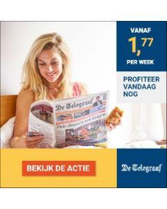De Telegraaf Digitaal 0/6| 3 jaar voor slechts € 1,77 p.w. TWO