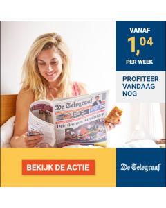 De Telegraaf Premium   3 jaar voor € 1,04 p.w. TWO