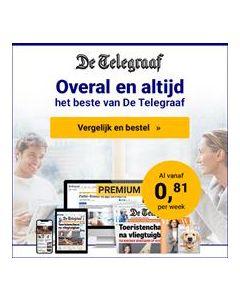De Telegraaf Premium 0/0 | 1 jaar voor € 0,81 p.w. TWO